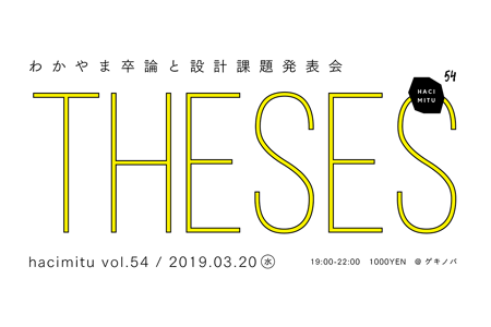 hacimitu54「わかやま卒論と設計課題発表会」